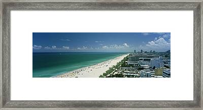 City At The Beachfront, South Beach Framed Print by Panoramic Images