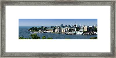 City At The Waterfront, Kingston Framed Print by Panoramic Images