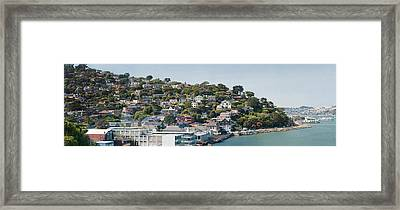 City At The Waterfront, Sausalito Framed Print by Panoramic Images