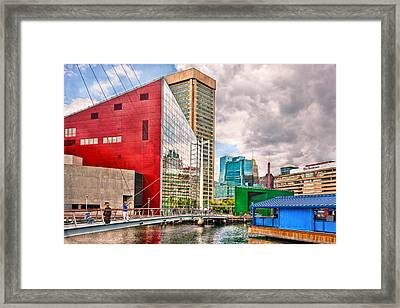 City - Baltimore Md - Harbor Place - Future City  Framed Print by Mike Savad