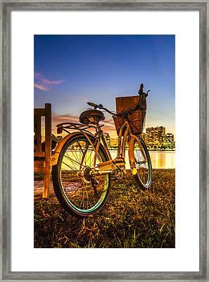 City Bike Framed Print by Debra and Dave Vanderlaan