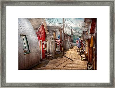 City - Canandaigua Ny - Shanty Town  Framed Print by Mike Savad
