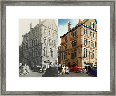 City - Chattanooga Tn - 1943 - The Masonic Temple - Both Framed Print by Mike Savad