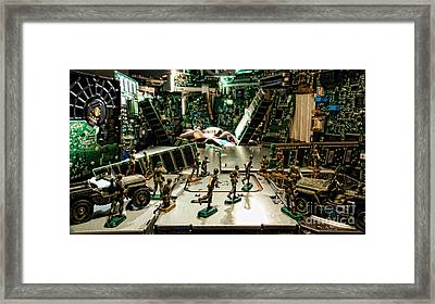 City Cyber Attack  Framed Print by Olivier Le Queinec
