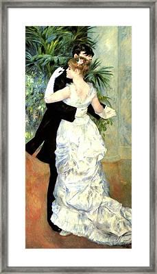 City Dance Framed Print by Pierre Auguste Renoir