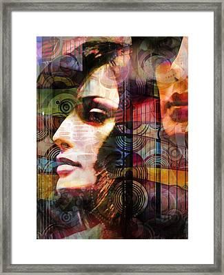 City Girls Color Framed Print by Lutz Baar