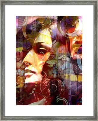 City Girls Retro Framed Print by Lutz Baar