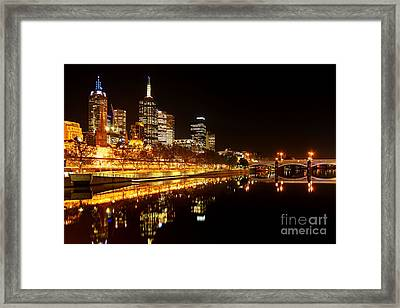 City Glow Framed Print by Andrew Paranavitana