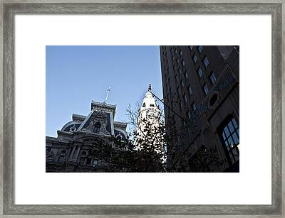 City Hall At Market Street Framed Print by Bill Cannon