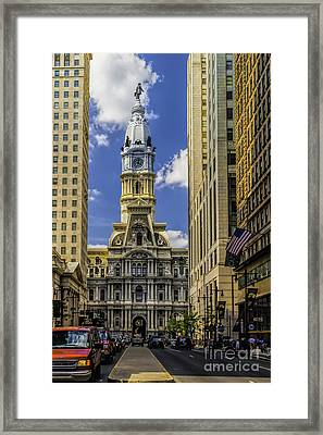 City Hall Of Philadelphia Framed Print by Nick Zelinsky