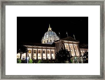 City Hall San Francisco At Night Framed Print by Jim Fitzpatrick