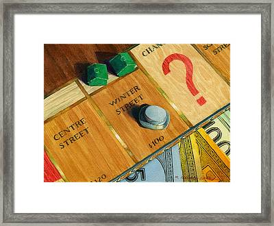 City Island Monopoly Iv Framed Print by Marguerite Chadwick-Juner