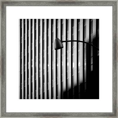 City Lamp Framed Print by Dave Bowman