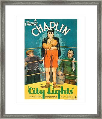 City Light Movie Poster - Chaplin Framed Print by MMG Archive Prints