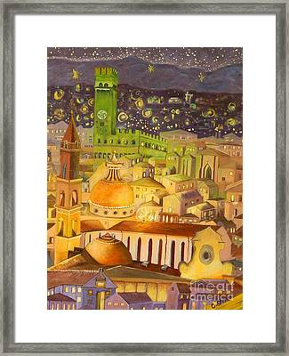 City Light Star Light Framed Print by Caroline Street