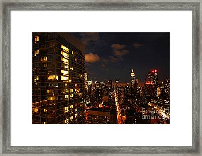 City Living Framed Print by Andrew Paranavitana