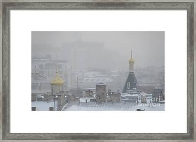 City Mist 1 Framed Print by Anna Yurasovsky
