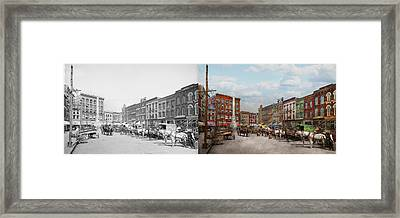 City - Norfolk Va - Hardware And Liquor - 1905 - Side By Side Framed Print by Mike Savad