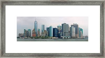 City - Ny - The Financial District Framed Print by Mike Savad