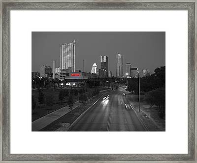 City Of Austin Power Plant Framed Print by James Granberry
