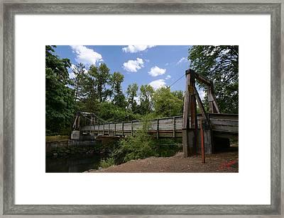 City Of Dallas Park Bridge Framed Print by Charles Fennen