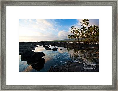 City Of Refuge Beach Framed Print by Mike Reid