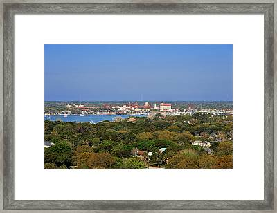 City Of St Augustine Florida Framed Print by Christine Till