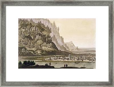 City Of Yakutsk On The River Lena Framed Print by Italian School
