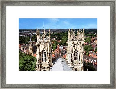 City Of York, York Minster, Cathedral Framed Print by Miva Stock