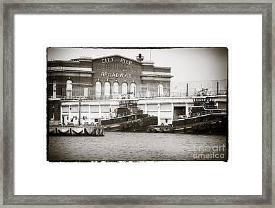 City Pier Broadway Framed Print by John Rizzuto