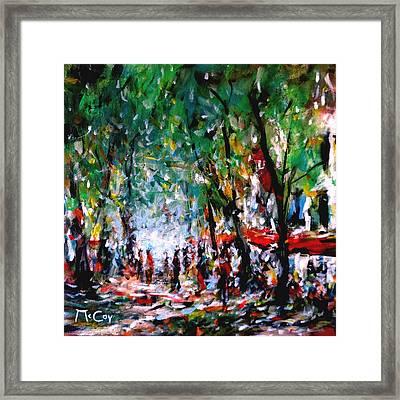 City Promenade Framed Print by K McCoy