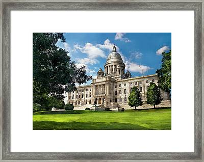 City - Providence Ri - The Capitol  Framed Print by Mike Savad