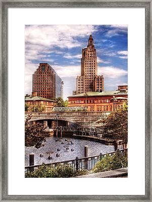City - Providence Ri - The Skyline Framed Print by Mike Savad