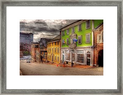 City - Providence Ri - Thomas Street Framed Print by Mike Savad