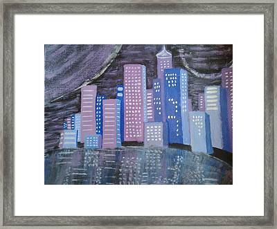 City Reflections Framed Print by Erica  Darknell