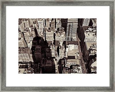 City Shadow Framed Print by Dave Bowman