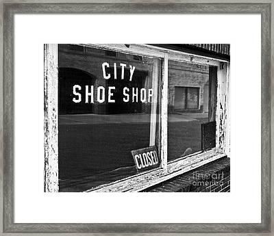 City Shoe Shop 2 Framed Print by Patrick M Lynch