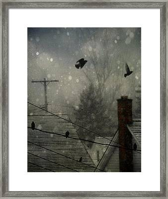 City Snow Framed Print by Gothicolors Donna Snyder
