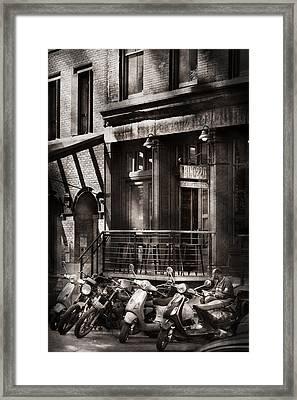 City - South Street Seaport - Bingo 220  Framed Print by Mike Savad