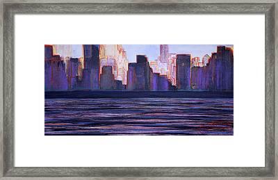 City Sunset Framed Print by Jack Diamond