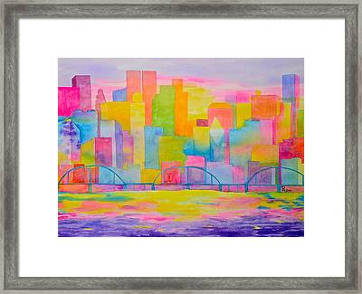 City To Dye For Framed Print by Rhonda Leonard