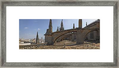 City View From A Cathedral Roof Framed Print by Panoramic Images