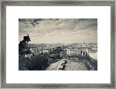 City Viewed From The Notre Dame Framed Print by Panoramic Images