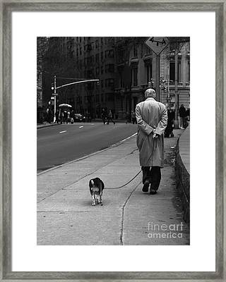City Walk Framed Print by Diane Diederich