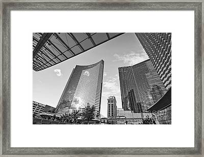 Citycenter - View Of The Vdara Hotel And Spa Located In Citycenter In Las Vegas  Framed Print by Jamie Pham