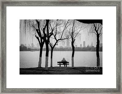 Cityscape 1 - Breathe Framed Print by Dean Harte
