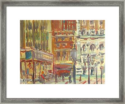 Cityscape 1 Framed Print by Edward Ching