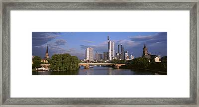 Cityscape, Alte Bridge, Rhine River Framed Print by Panoramic Images