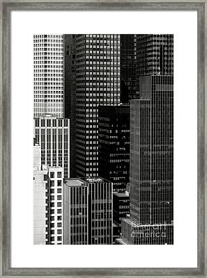 Cityscape In Black And White Framed Print by Diane Diederich
