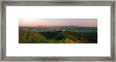 Cityscape, Santa Monica, City Of Los Framed Print by Panoramic Images